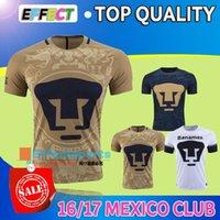 al por mayor camiseta de fútbol de tailandia-Tailandia de la calidad 2017 del club Pumas de la UNAM México Inicio Oro lejos jerseys azules del fútbol Camisetas de futbol Puma Pumas UNAM 16/17 camisas de fútbol