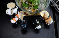 Wholesale 2016 Best sales Cartoon Cat Kitten Lovely Key Rings Chains Keychain Bags Pendant Ornament Kid Toy
