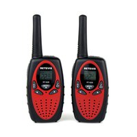 Wholesale New Black RETEVI RT R Walkie Talkie W CH UHF VHF DTMF VOX Dual Band Dual Frequency FM Radio Two Way Radio