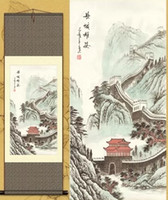 beijing family - Chinese wind characteristics gifts to send friends and family Capital Beijing souvenirs Great Wall silk scroll painting
