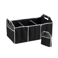 accessory organizer - Car Organizer Boot Stuff Food Storage Bags trunk organiser Automobile Stowing Tidying Interior Accessories Folding Collapsible