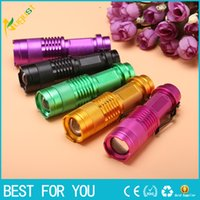 Cheap Zoomable Led Flashlight Torch Light 365nm Ultra Violet Light Blacklight UV Lamp AA Battery For Marker Checker Cash