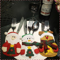 Wholesale Christmas knife and fork small bag Christmas table decorations Christmas Eve items Santa Claus dining table set