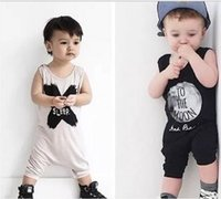 Wholesale Hot selling New baby boy girl clothing set carter baby Romper letters sleeveless jumpsuit baby clothes