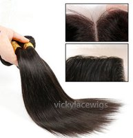 Wholesale Beautiful star Ali Queen Brazilian virgin hair natural straight three part lace closure with hair weave unprocessed natural color