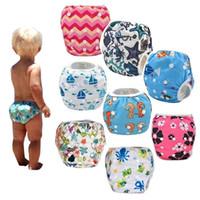 Wholesale Baby Girl Boy Swim Nappy Diaper Newborn Swimwear Infant Baby Swimsuit Baby Bathing Suit Baby Swiming Diapers Reusable Adjustable in stock