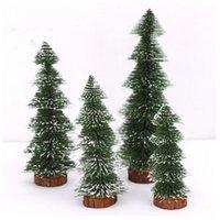 Wholesale 10Pcs Christmas Ornaments Cedar Xmas Decoration Mini Plastic Christmas Tree Arvore De Natal Artificial High Quality