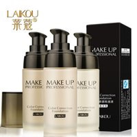 Wholesale New Brand LAIKOU Makeup Base Face Liquid Foundation BB Cream Concealer Whitening Moisturizer Oil control Waterproof Maquiagem