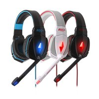 Wholesale EACH Deep Bass Game Headphone Stereo Surrounded Over Ear Gaming Headset Headband Earphonewith Mic Volume Control for PC Gamer