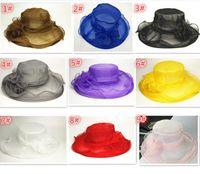 Wholesale HOT sale Color Fashion Designer Women Church Hats Kentucky Derby flower Organza Ladies Hat Female Summer Caps D816
