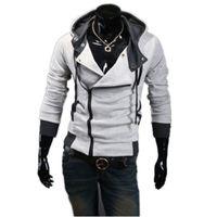 assassin creed hood - Hoodies Men Moleton Assassins Creed Sportswear Man Hoody Coat Brand Jaquetas Masculina Fleece Hood CardiganTracksuit Sweatshirt