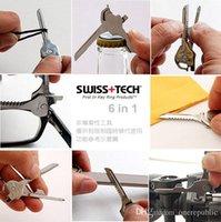 Wholesale 30Pcs Swiss Tech Utili Key Outdoor in Mini MultiTool Portable Key Ring Survival Knives Pocket Folding Knives