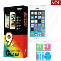 Wholesale Tempered glass For iPhone s SE s splus Samsung S7 S6 Explosion Proof Screen Protector for Galaxy Note With Paper Package