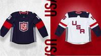 Wholesale 2016 Team USA World Cup of Hockey Men s Jerseys Justin Abdelkader David Backes Brandon Dubinsky Kyle Palmieri Derek Stepan