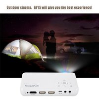 Wholesale 10 GP1S DLP Projector AV IN SD USB VGA HDMI Home Theater Resolution Lumen Proyector support DVD Mobile Phone