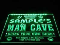 Wholesale DZ031 Name Personalized Custom Man Cave Football Bar Beer LED Neon Light Sign box terminal