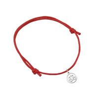 adjustable string bracelet - 30pcs Simple Lotus Flower Yoga Religious Round Charm Adjustable Colorful String Wax cord Lace up Bracelets