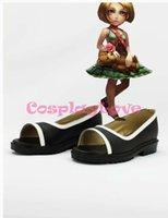 annie shoes - Custom Made American Game LOL Annie Cosplay Boots Black Shoes For Christmas Halloween Festival