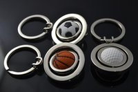 arrival surroundings - New Arrival European football Cup surroundings keychain Sport Style Ball Keychain Rotate Football Keyring holder Sport Men
