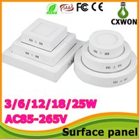 Wholesale Surface Mounted Led ceiling panel lights W W W w w w Round Square Led Panel Light Led ceiling down spotlight V