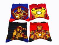 baby irons - unisex Iron ManThor Hulk Captain America kids cartoon cotton Children s Socks superhero children baby socks Year pairs