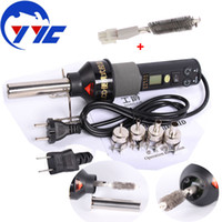 adjustable air nozzles - 450W LCD Display Adjustable Hot Air Gun Soldering Station For IC SMD Desoldering Rework With Nozzle V V US EU Plug