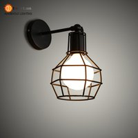 Others bc lighting - Vintage Iron American Wall Lamp Modern Foyer Light Edison Lamps With E27 V V Style BC