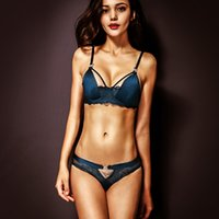 Wholesale Sexy Lace Floral Push Up Women Bra Set Intimate Lingerie Underwire Plunge Unlined Sexy Bra And Panty Sets Satin Bra Brief Set