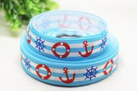 anchor grosgrain ribbon - New arrival yards quot mm Anchor Life Preserver and Ships Wheel Print Grosgrain Ribbon
