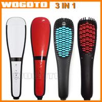 anion cap - 2016 Electric Hair Straightener Brush Comb in Hair Straightener Detangling Brush Anion Spray Magic Hair Comb with Anti Burn Silicone Cap