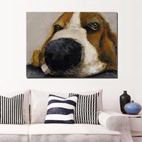 artist prices - High quality hand painted by chinese artists cheap price for small business animal dog oil painting