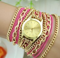 Relojes de pulsera baratos del viento de la nación de la vendimia de la manera de cadena larga de lujo relojes superventas de la vendimia de la alta calidad del último reloj de cuarzo del estilo