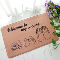 Wholesale Floor MATS Brand Kitchen Carpet Toilet Tapete Eiffel Tower floor MATS Absorption Non slip Rugs Porch Doormat Para Quarto Casa
