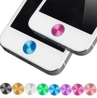 Wholesale Phone Button Stickers CD lines App mm Diameter Colorful Aluminium Metal Round Home Button Sticker for iPhone s