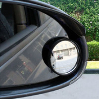 Wholesale 1 Piece Helpful Car mirror Wide Angle Round Convex Blind Spot mirror for parking Rear view mirror Rain Shade Auto Accessories