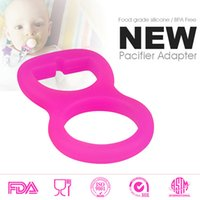 baby adapter - Colorful Silicone Pacifier Adapter Rings for Button style MAM NUK Baby Pacifier Ribbon Clips Mam Rings Dummy Pacifier Holder