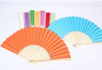 Wholesale Express Personalized Silk wedding hand fans silk wedding fans