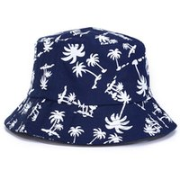 ball pad printing - 2016 Fashion Basin Of Maple Leaf Design Cotton Padded Caps Bucket Hat Topi Fisherman Hat outdoor leisure hats