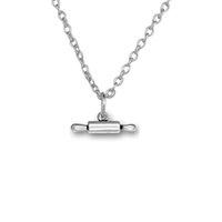 Joyería pendiente plateada plata del collar de la cadena de la caja de la plata de la antigüedad del encanto de la cocina DIY del rodillo 100pcs / lot (A121589)