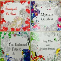 Wholesale 2016 new style The mysterious garden English coloring books Paper capa citor mullticolour Suitable for color pencil Beutiful B