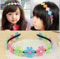 Wholesale Kid Flower Headband Hair Hoop Korean Style Bridal Wreath Rose Garland Bride Bridesmaid Flower Photo Ornaments Colors Elegant Princess