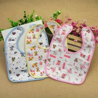 floral supplies - maternal and child supplies baby waterproof bibs that made of cotton saliva towel with two buttons