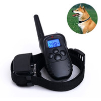 Wholesale 300M Blue Screen Level Electric Shock Vibra Pet Dog Training Collar Waterproof And Rechargeable DRL anti bark control collar