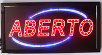 Wholesale Led abierto open shop sign hot sale X19 inch indoor Ultra Bright running shop Neon light sign board