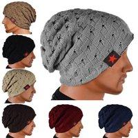 El invierno caliente de la nueva manera de los hombres del cráneo Chunky Knit de las mujeres Beanie Cap reversible holgado unisex calientes Sombrero HB88