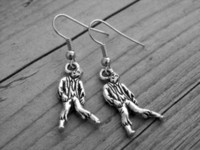 american horror - 10pairs Silver Zombie Earrings Zombie Jewelry Gothic Goth Horror Movie Undead The Walking Dead The Living Dead