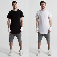Wholesale Top Quality Men Cotton colors plain short sleeve long hit pop T Shirt for men S XL