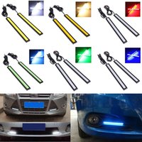 Wholesale Pair cm V LED COB Auto Car Driving Daytime Running Light DRL Fog Lamp Black Shell Colors