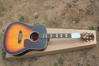 Wholesale Best selling Hot best guitar J Jumbo Acoustic guitar Sunburst Excellent Quality