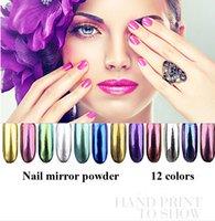 nail art glitter - 2016 g Shinning Mirror Nail Glitter Powder Gorgeous Nail Art Chrome Pigment Glitters colors